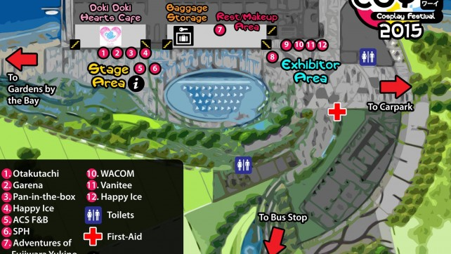 EOY Cosplay Festival 2015 Event Map
